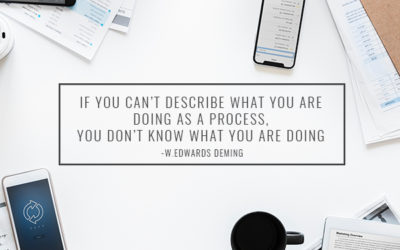 If you can't describe what you are doing as a process, you don't know what you are doing.